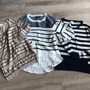 Bundle of stripe tops